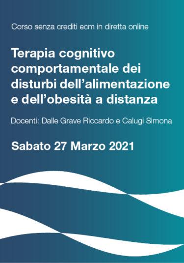 La Terapia Cognitivo Comportamentale dei Disturbi dell'Alimentazione e dell'Obesità a distanza